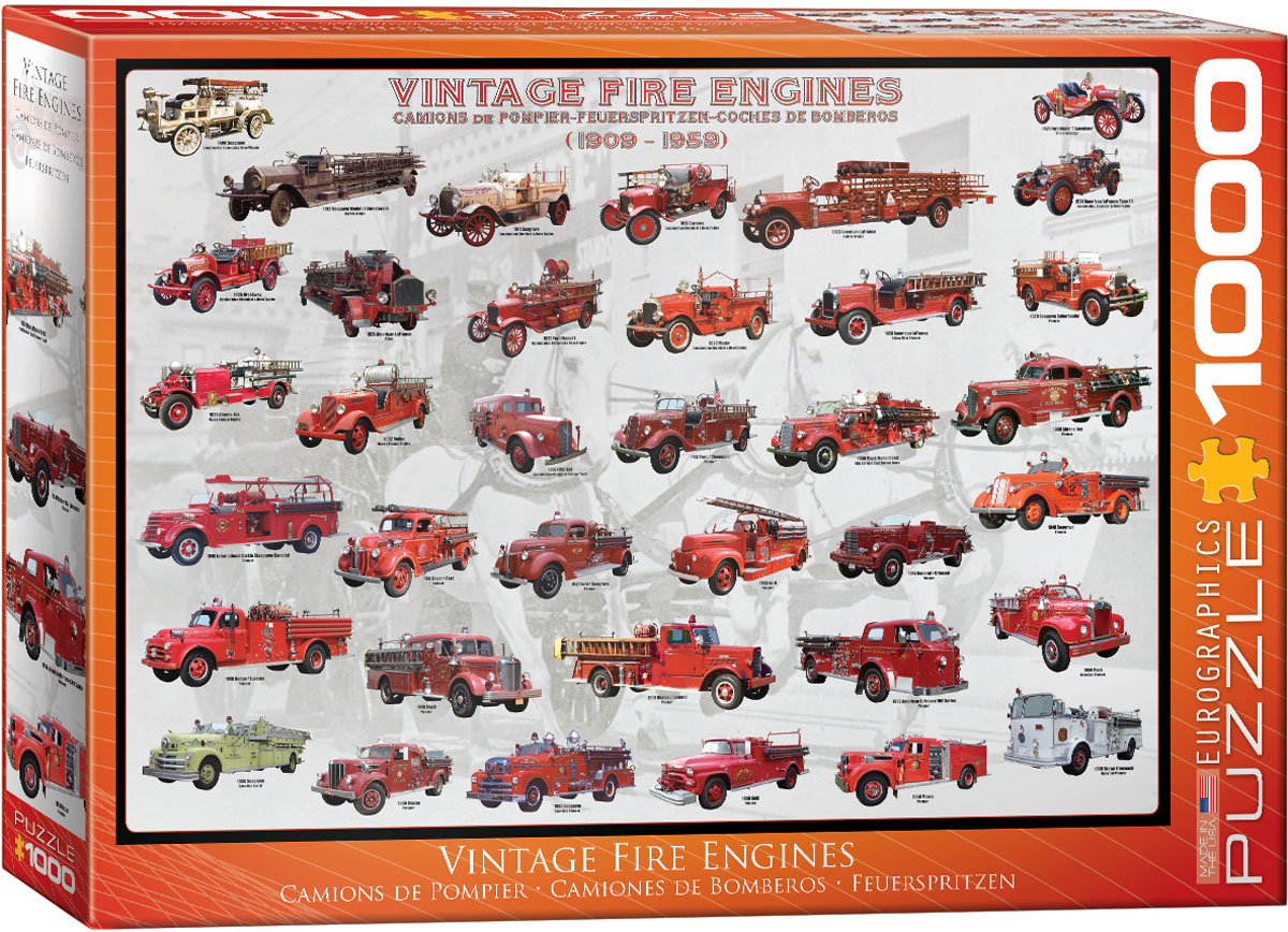 Vintage Fire Engines, Jigsaw Puzzle at Eurographics