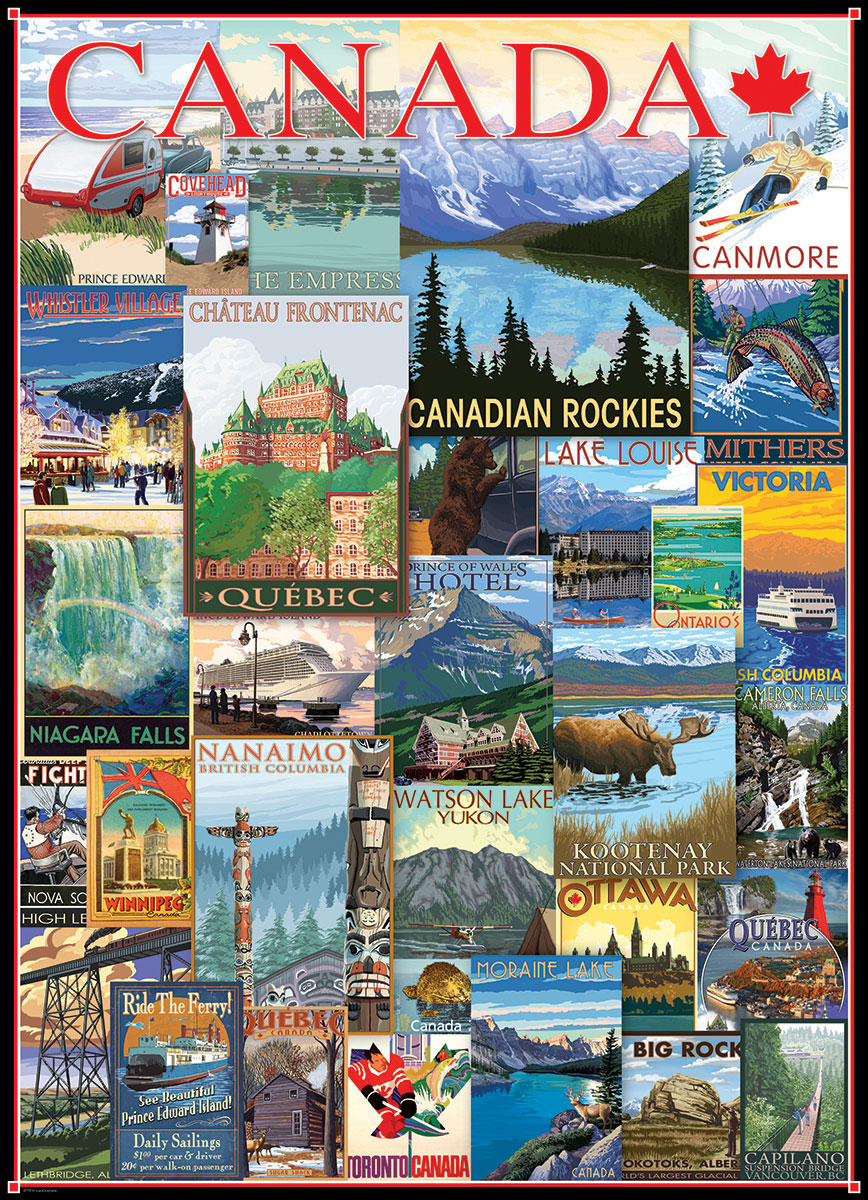 Vintage Ads Travel Canada Jigsaw Puzzles At Eurographics
